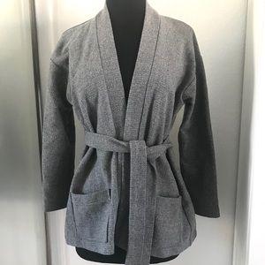 Tucker Belted Wool Cardigan